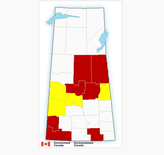 Severe thunderstorm warnings issued in parts of Saskatchewan