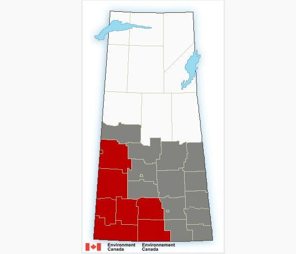Heat warnings issued in south west Saskatchewan