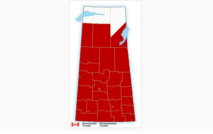 Heat warnings issued for almost all of Saskatchewan