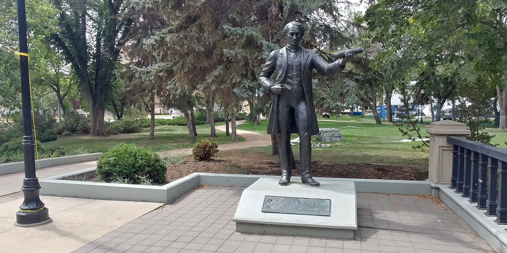 Despite recent controversy Mayor Fougere disappointed to see MacDonald statue vandalized