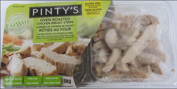 Select varieties of Pinty's chicken strips recalled
