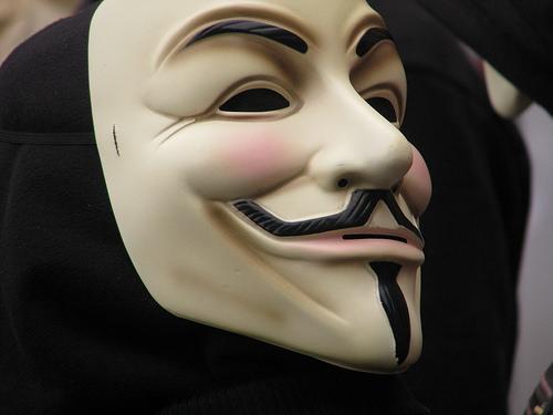 Man in Guy Fawkes mask arrested after police find multiple knives on him