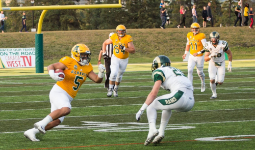 Rams rout Golden Bears in Friday night Canada West action
