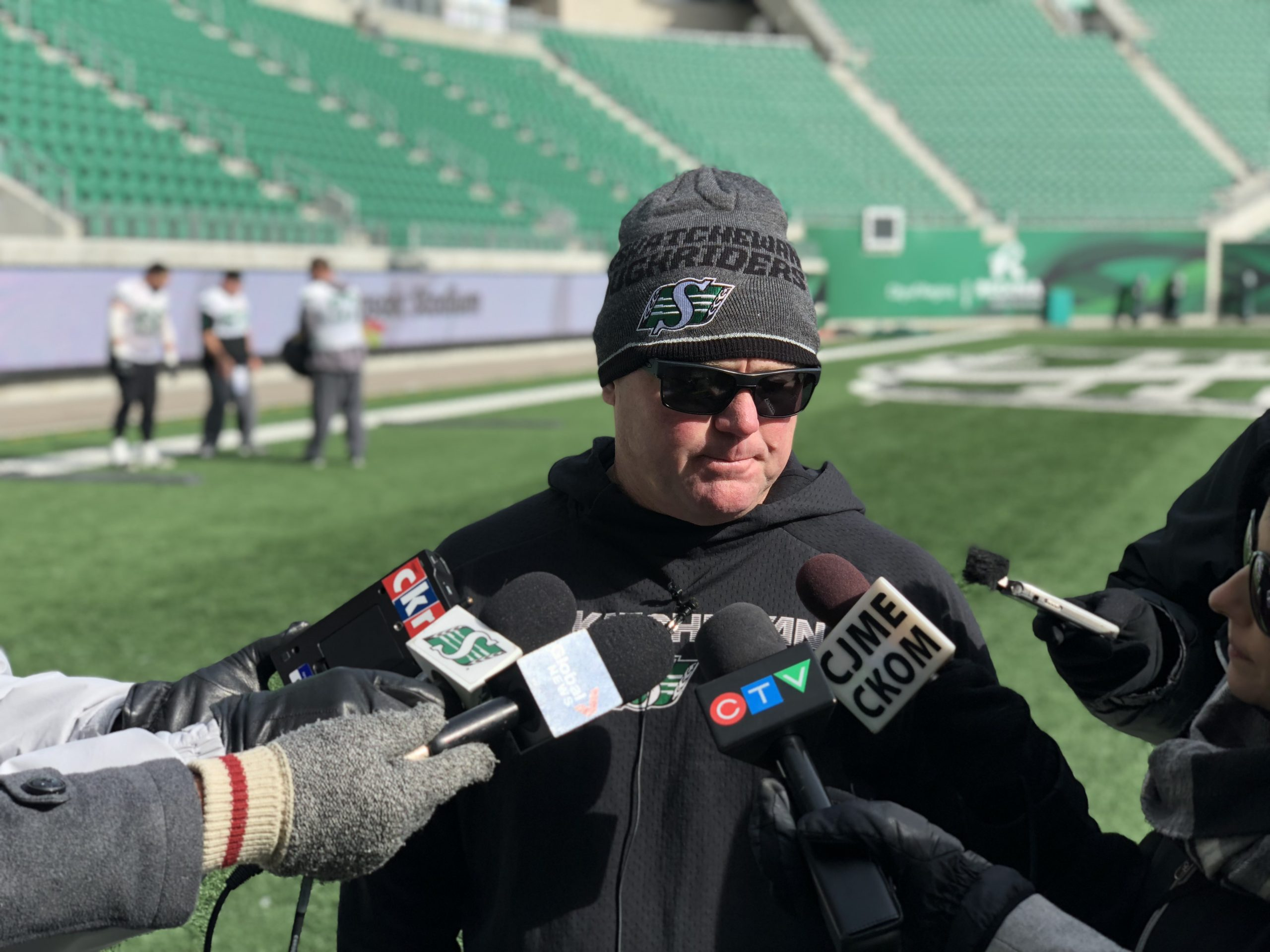 Riders Bundle Up For Day 1 Of Practice