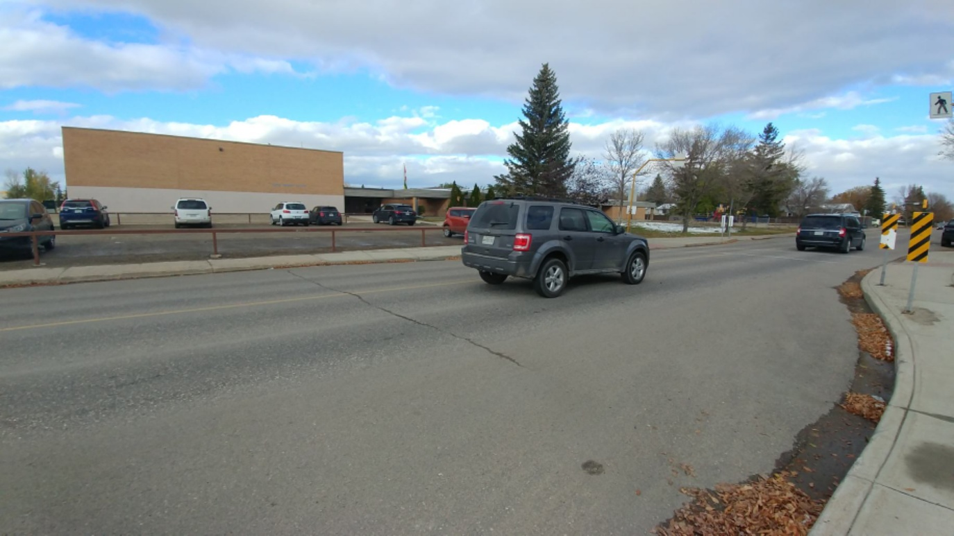 Regina Police and fire respond to pedestrian-vehicle collision at Judge Bryant School