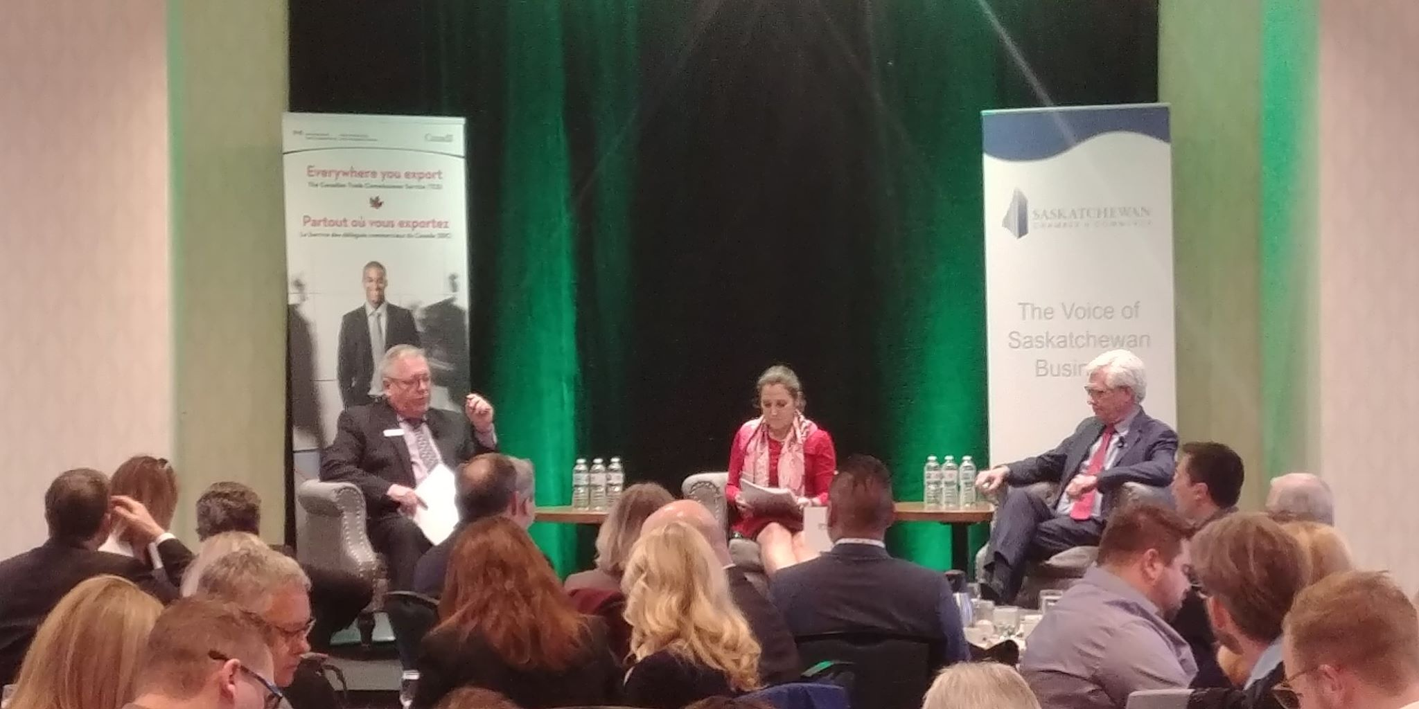 Minister's Freeland, Carr take part in Saskatchewan Chamber of Commerce panel on trade and carbon tax