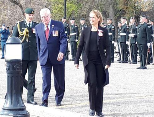 Governor General Julie Payette arrives in Regina
