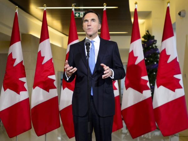 Federal finance minister Bill Morneau delivers fall fiscal update which focuses on increasing investment in Canada