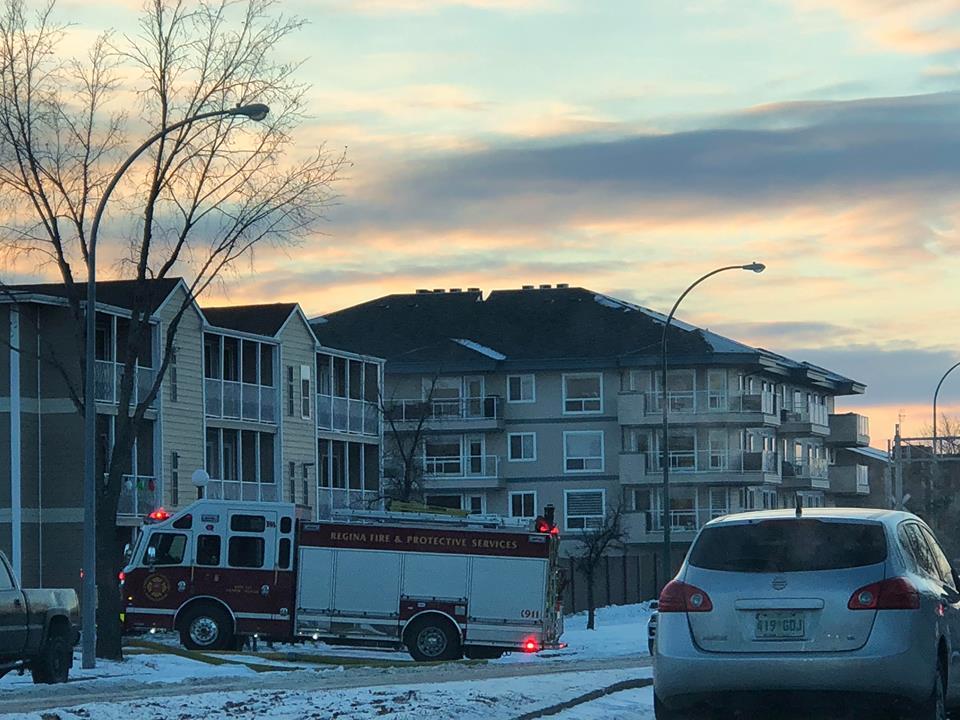 Man taken to hospital after condo fire in northwest Regina