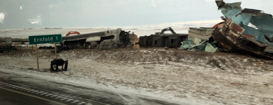 CP train derails near Ernfold