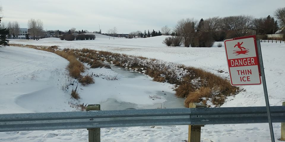 Regina residents told to stay away from thin ice from Regina fire