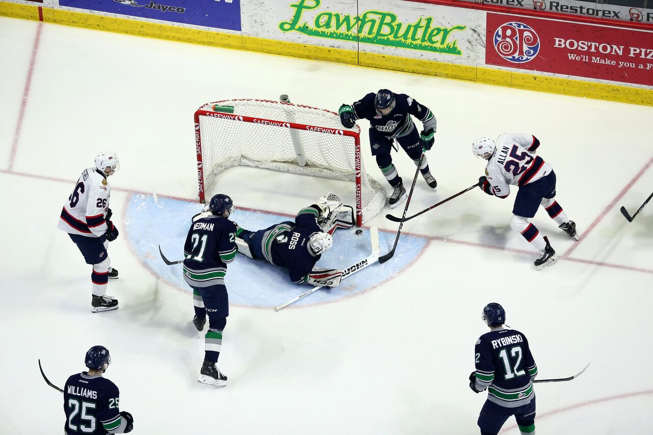 Pats give up three late goals in home-ice loss to Seattle