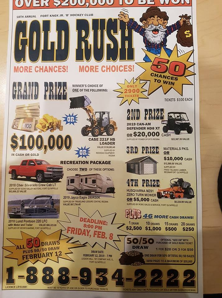 Fort Knox Gold Rush Lotto Winners | 620 CKRM The Source | Country
