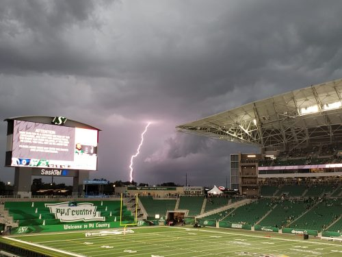 Weather protocols run smooth at Riders home opener