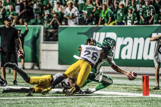 Last second TD gives Riders win over Hamilton