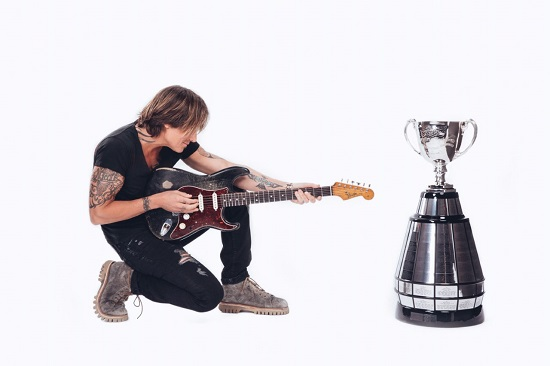 Keith Urban performing at 107th Grey Cup in Calgary