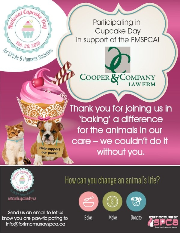 FMSPCA to benefit from cupcakes
