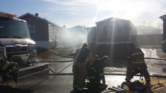Fire guts mobile home in Gregoire