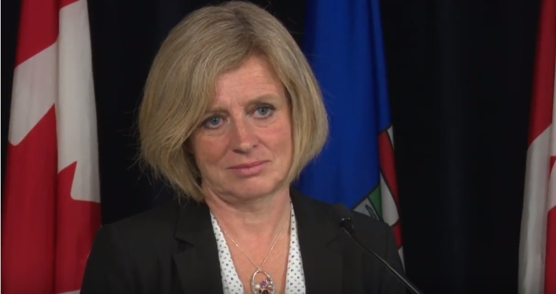 Notley, Blake, and Couture to provide remarks this afternoon