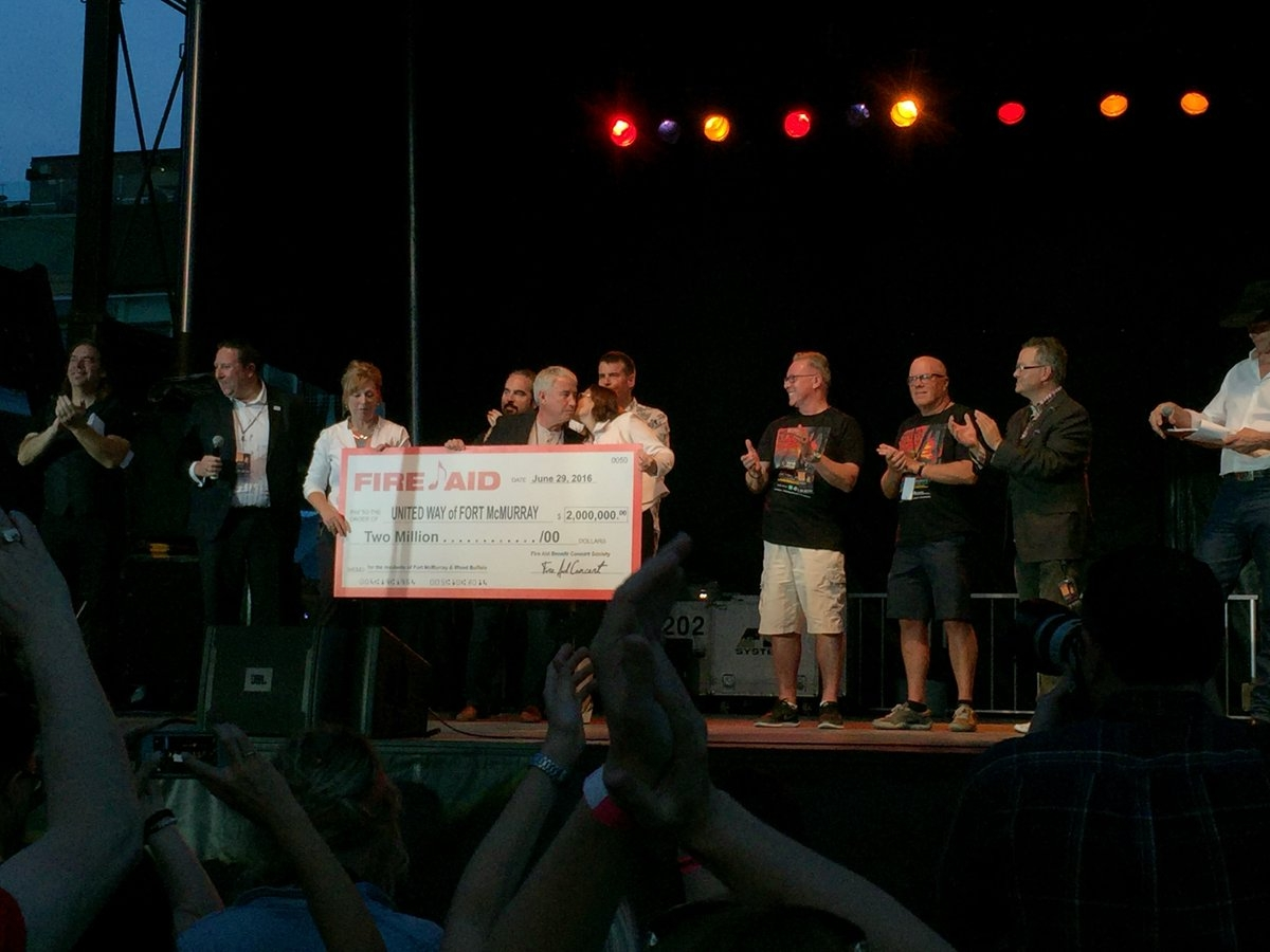 Fire Aid concert raises $2 million for Fort McMurray United Way