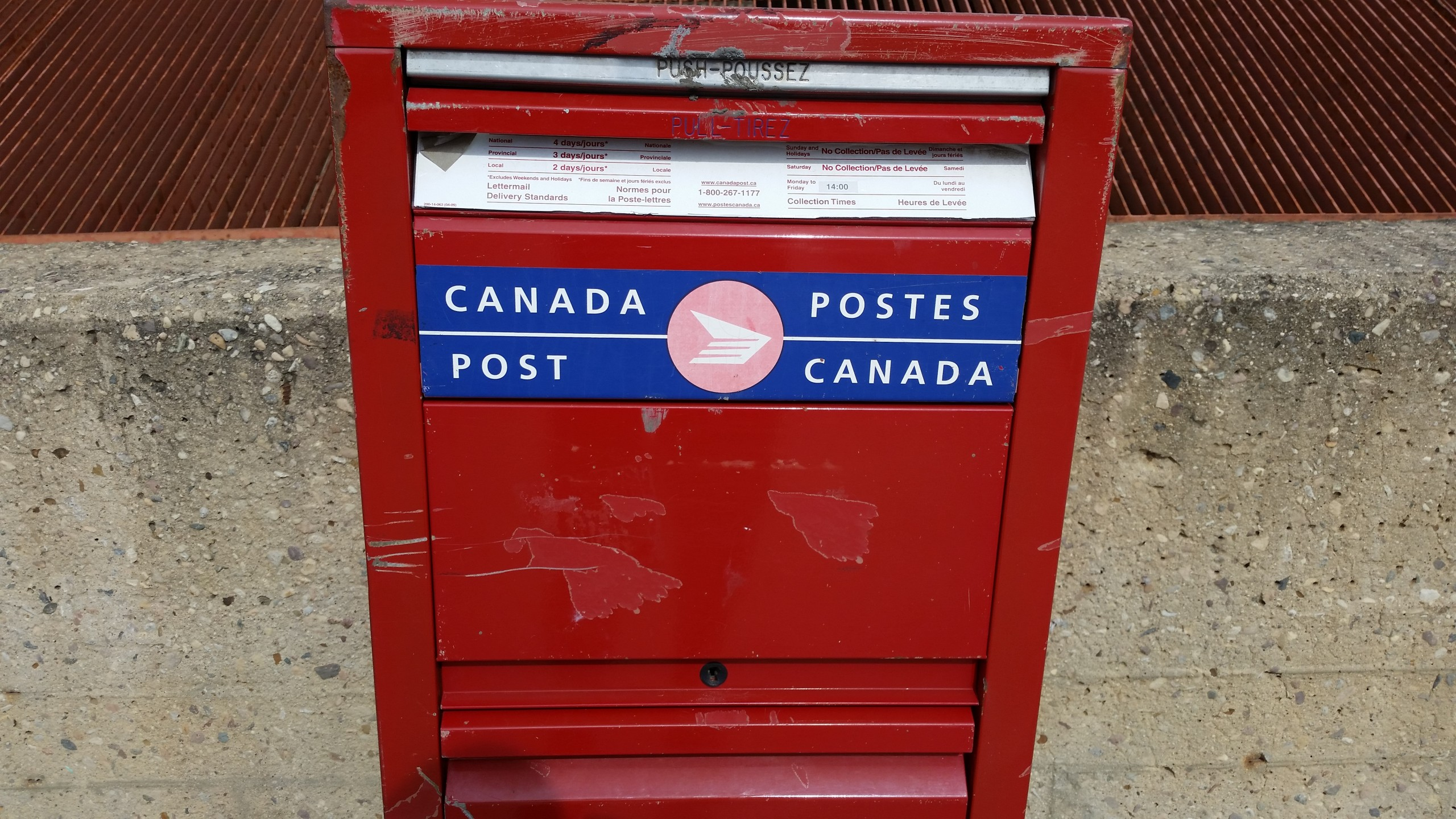 Deadline to pick up your backlog of mail