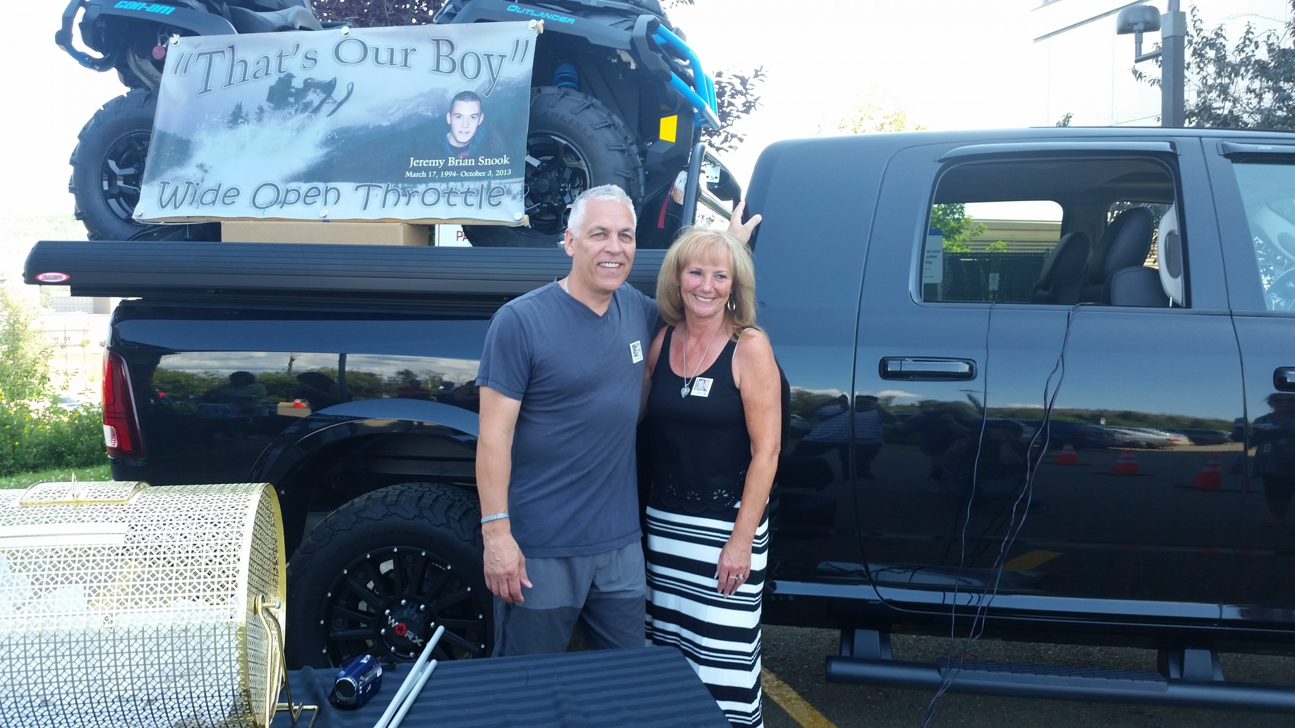 Over $106,000 dollars raised by Jeremy Snook raffle