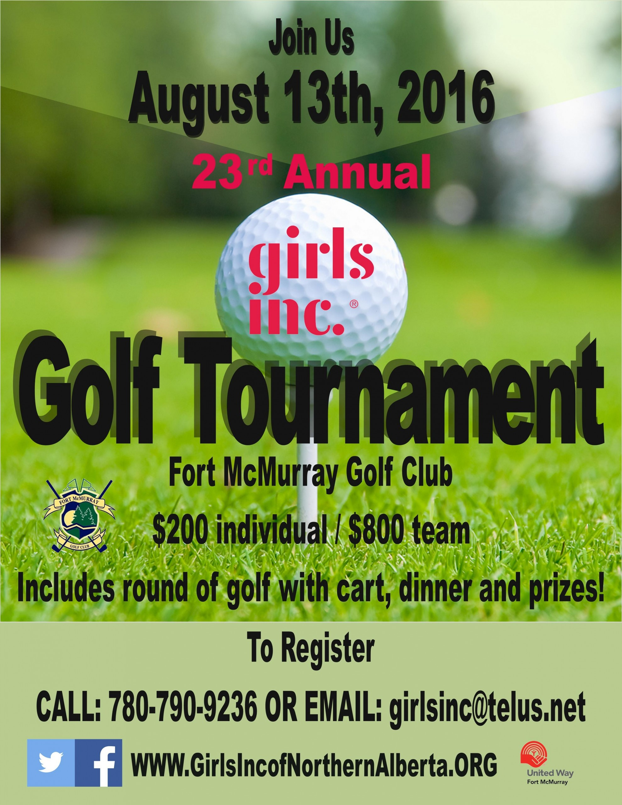 Girls Inc.'s 23 Annual Golf Tournament going ahead
