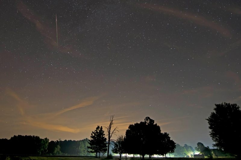 Perseid meteor showers visible tonight - if sky clears enough