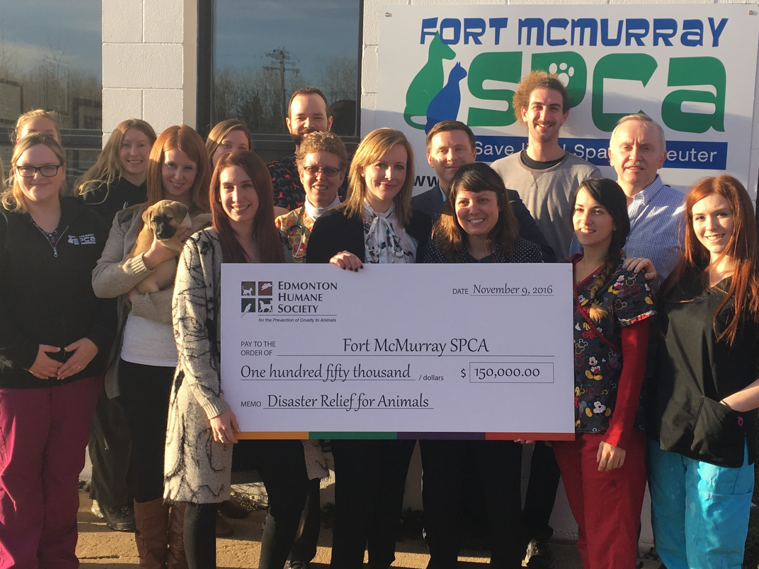 Fort McMurray SPCA receives large donation from Edmonton Humane Society