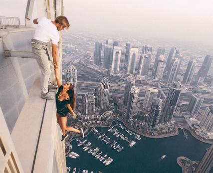 VID: Russian Model Dangles in Dubai
