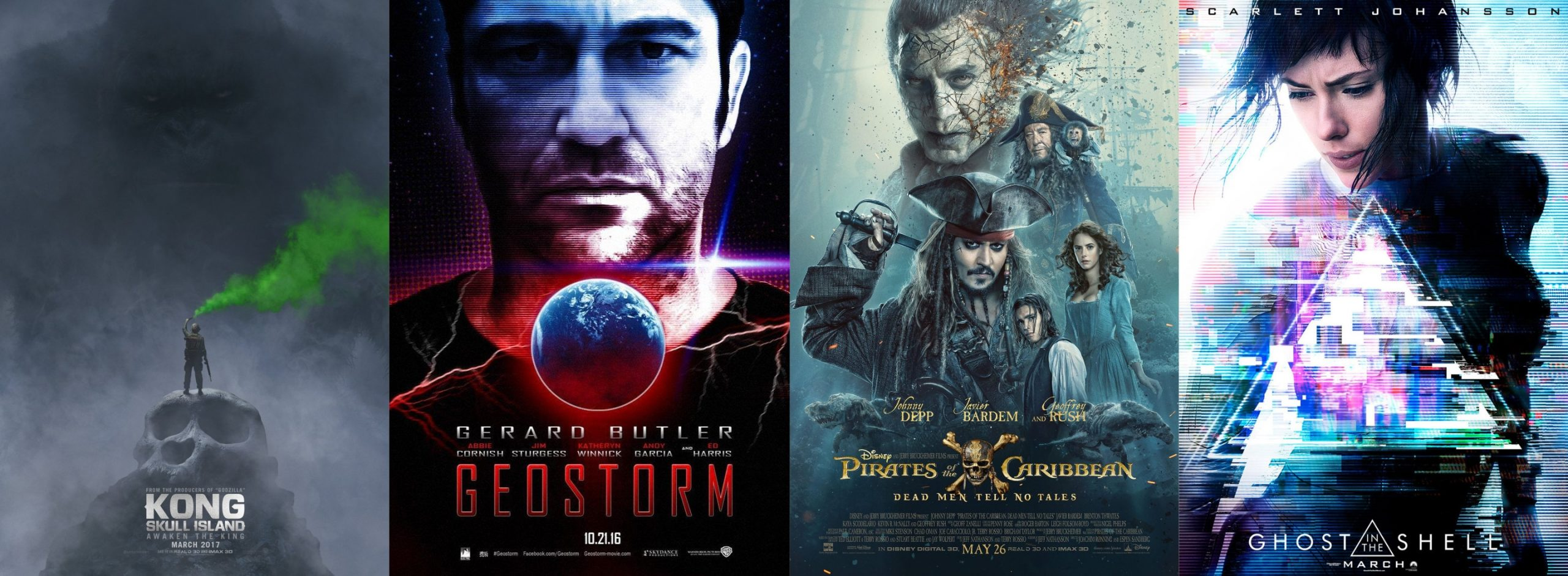 Trailer-Watchin' Wednesday - Kong, Pirates 5, Geostorm, Ghost in the Shell