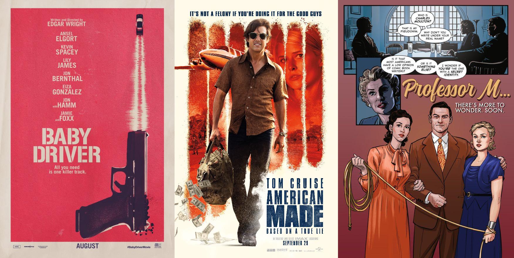 Trailer-Watchin' Wednesday: Baby Driver, American Made, Professor M