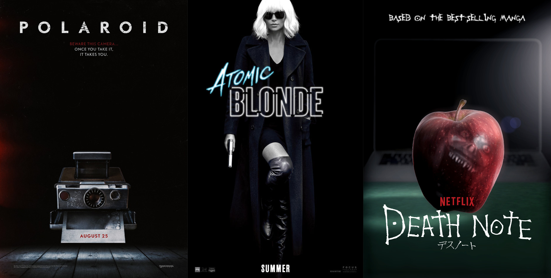 Trailer-Watchin' Wednesday - Death Note, Polaroid, Atomic Blonde, T2 3D