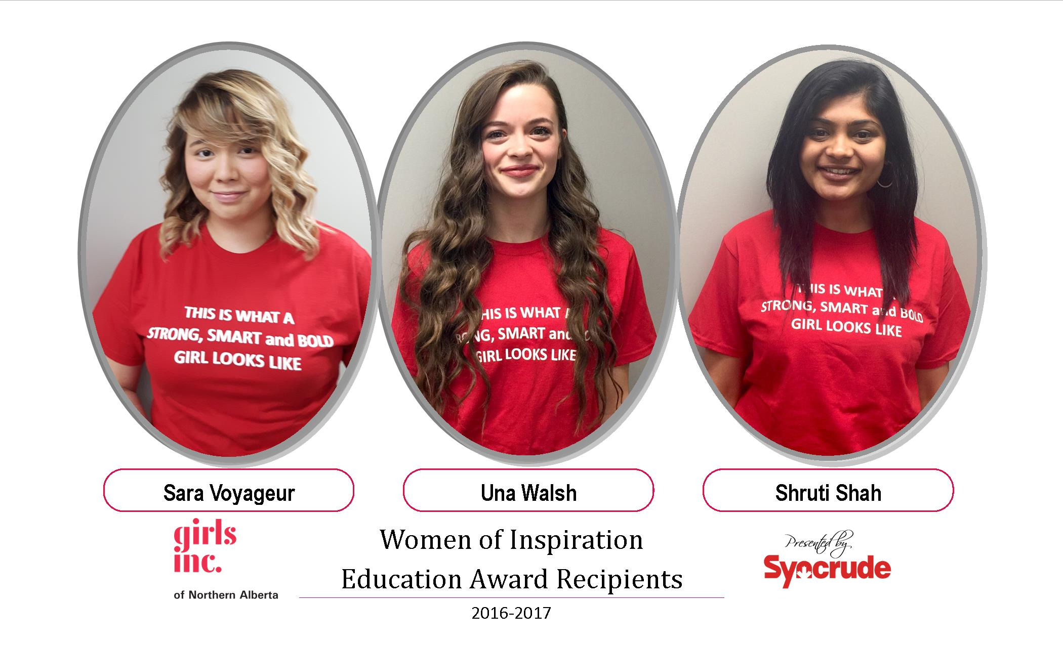 Three Female Students Receive $3,000 Scholarships