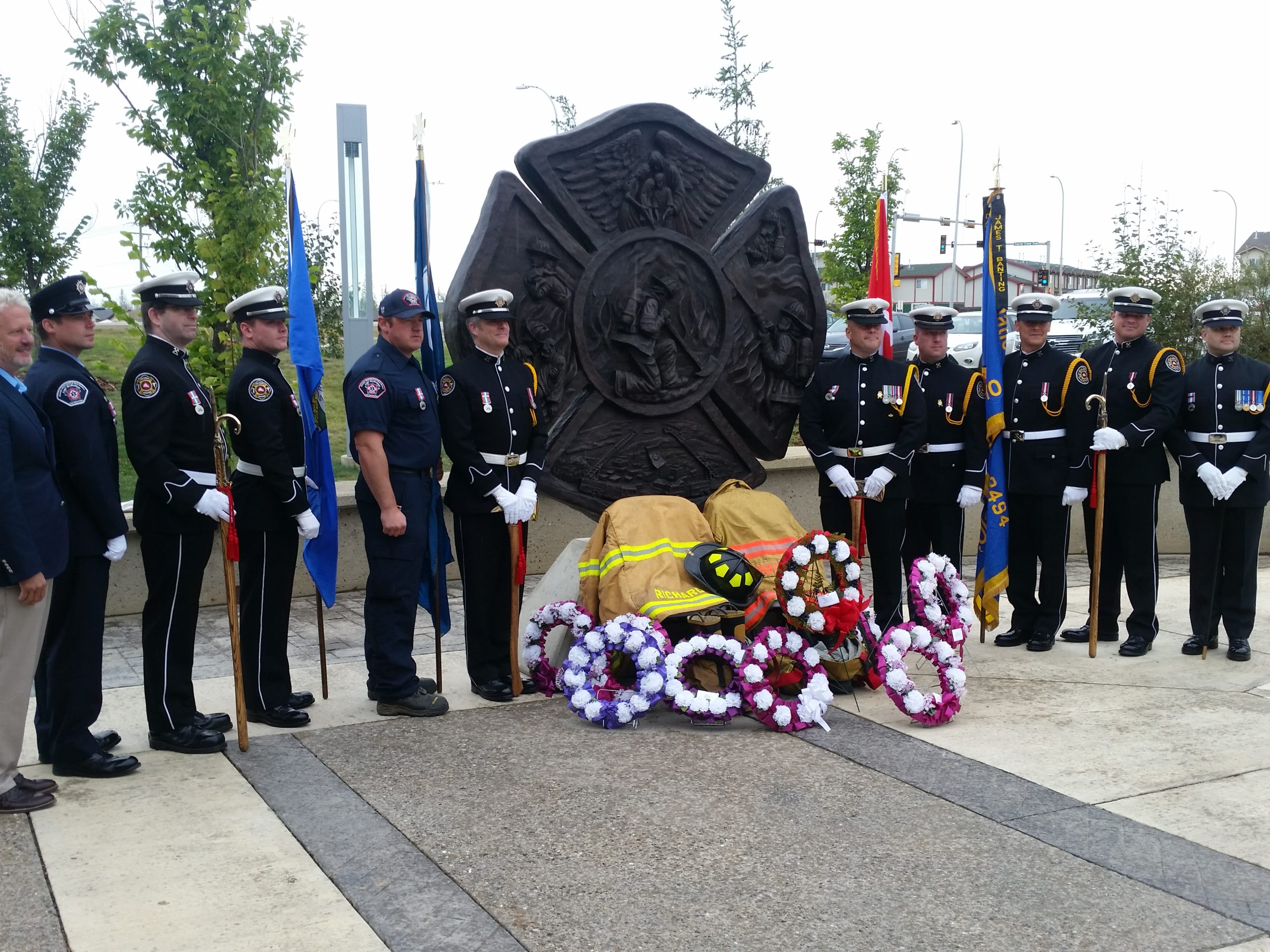 Fallen Firefighters Remembered Through New Statue and Memorial Ceremony