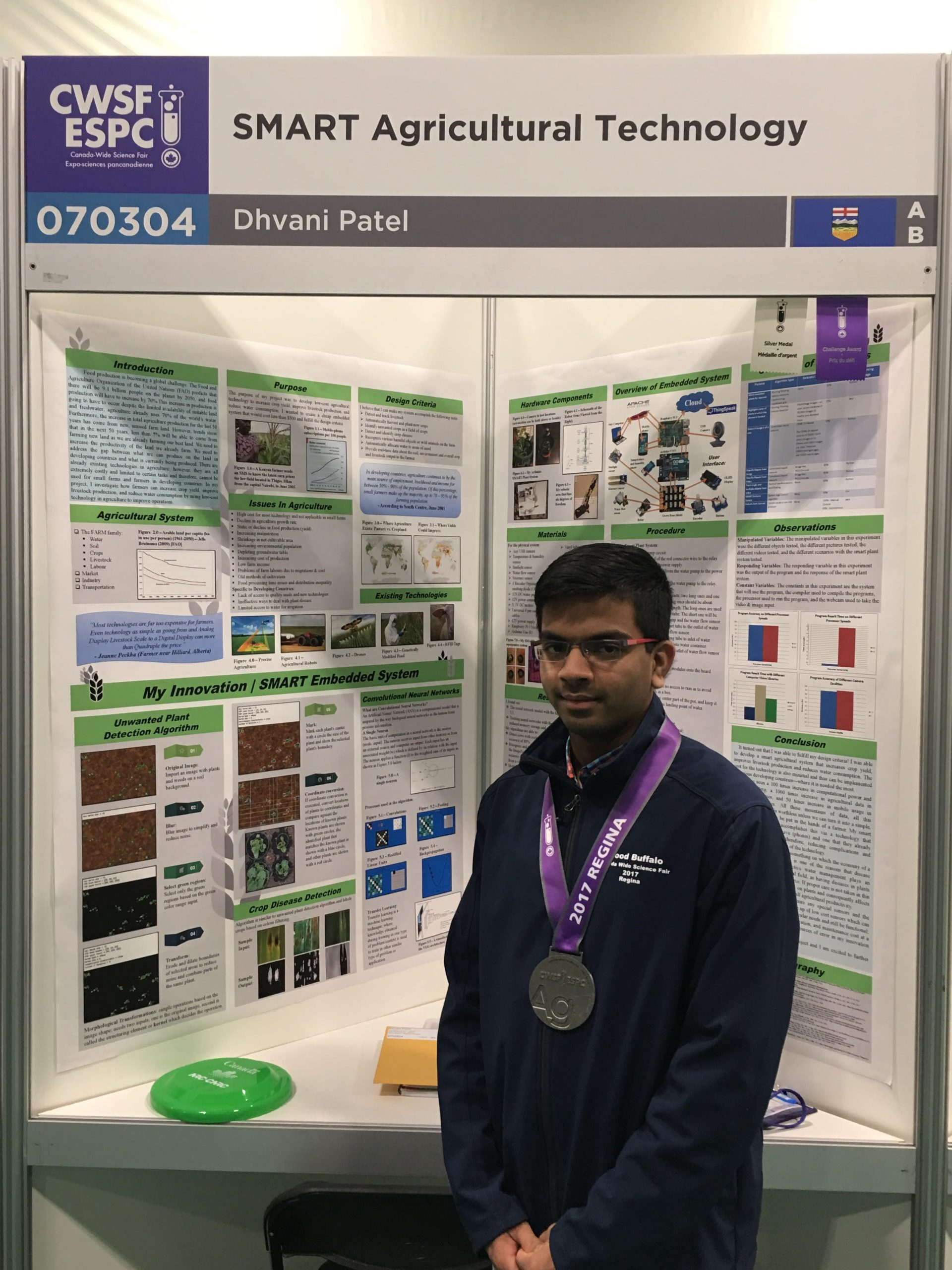 Westwood Student Among 30 Across Canada Taking Part in Prime Minister's Science Fair