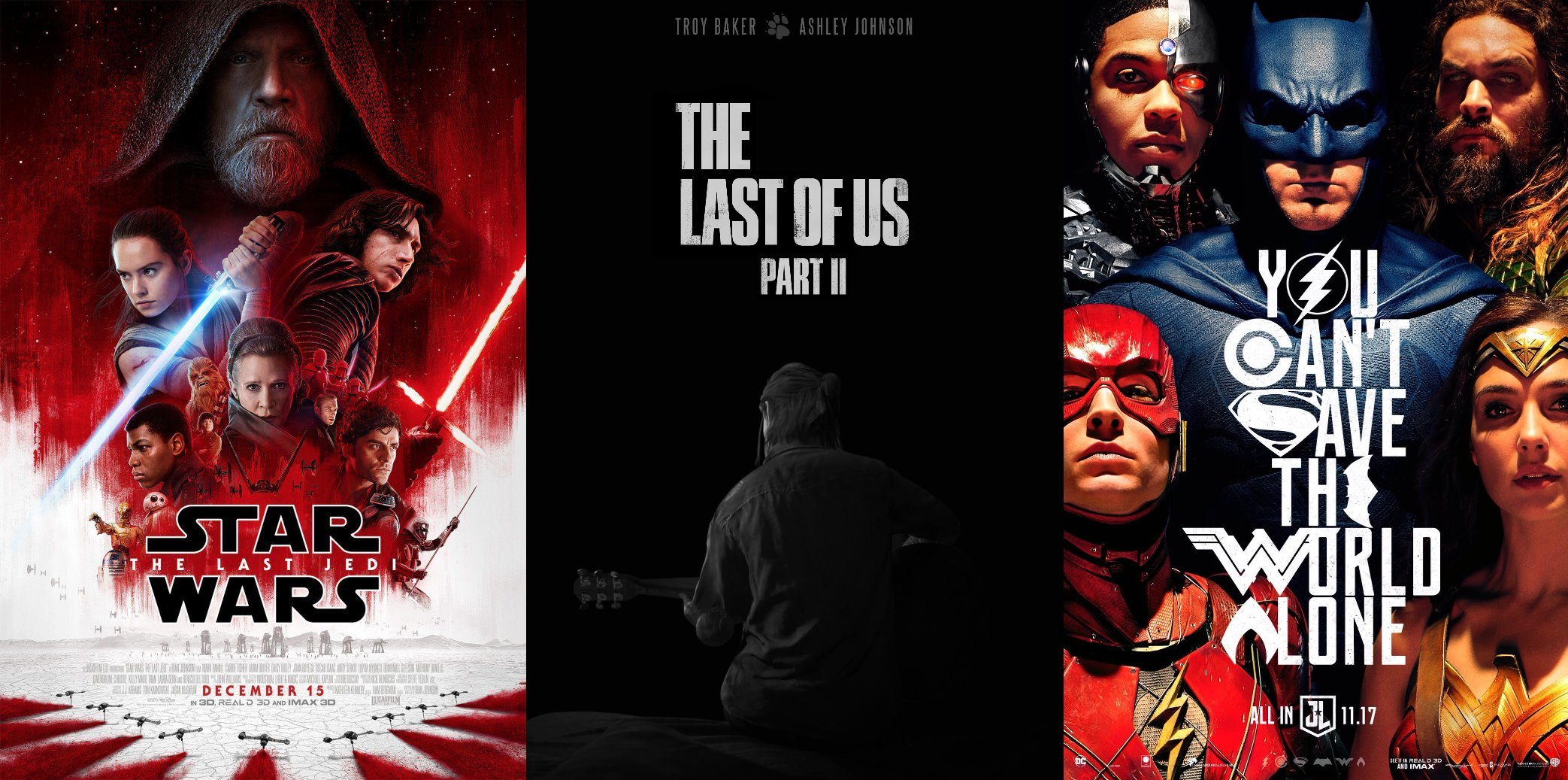 Trailer-Watchin' Wednesday - Star Wars: The Last Jedi, Justice League, The Last of Us Part 2