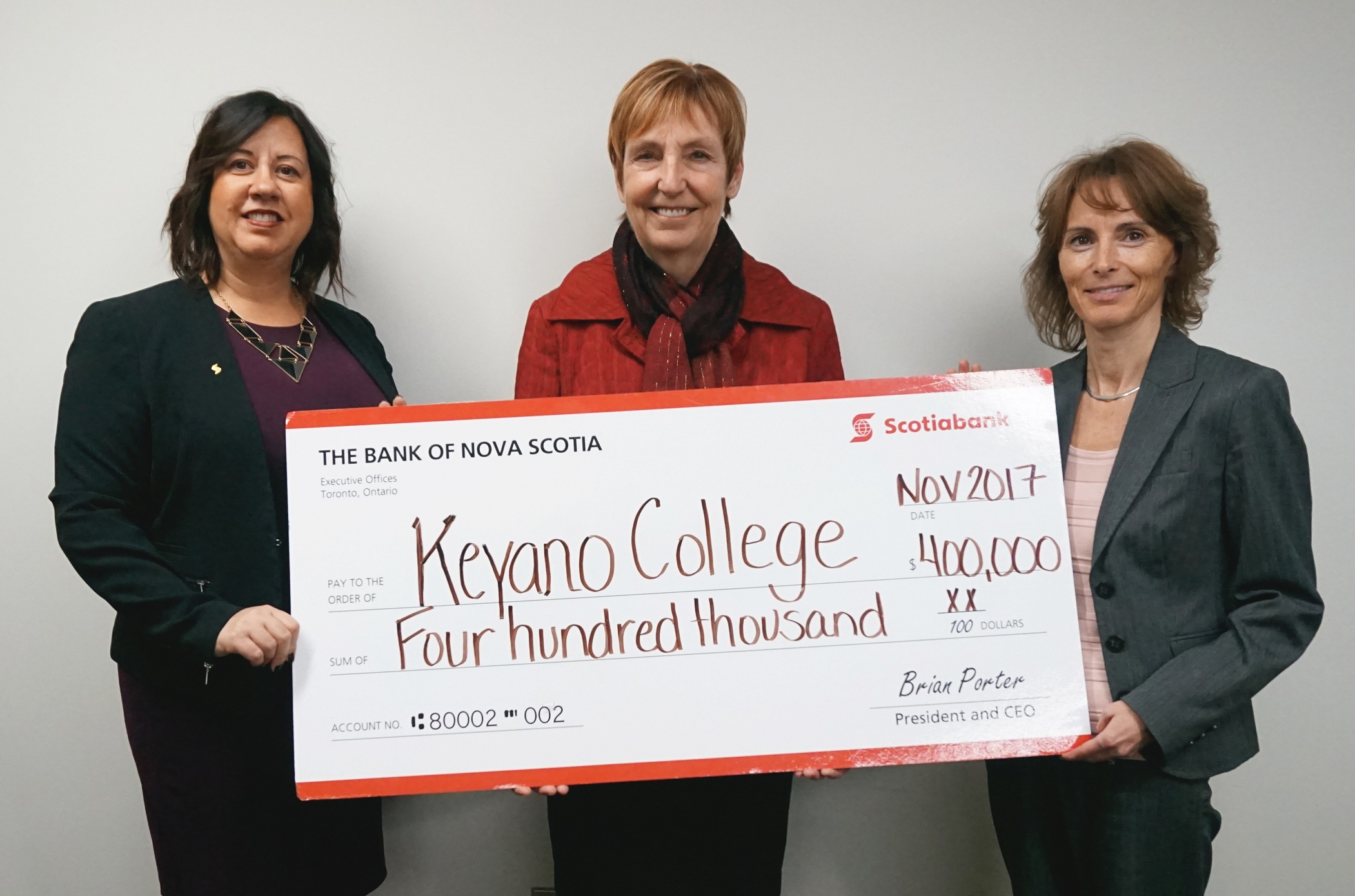 Keyano College Receiving $400K Donation from Scotiabank