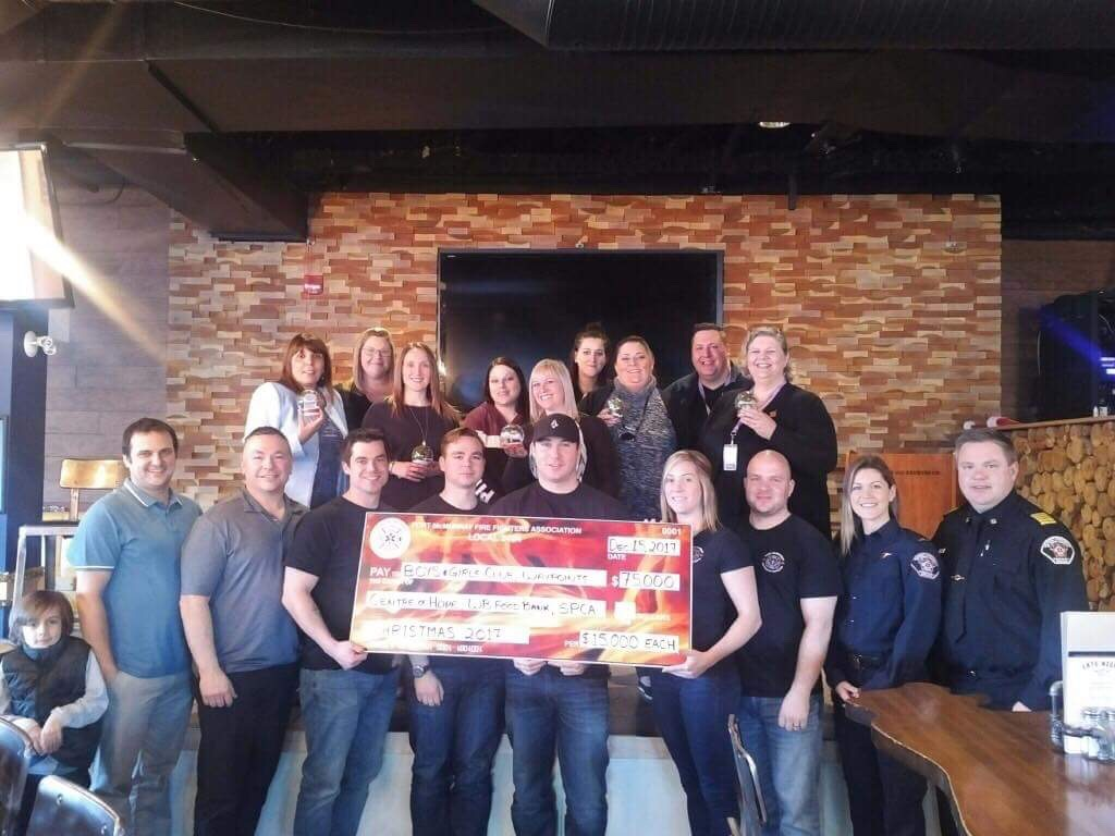 Firefighters Association Donates $75K To Five Local Social Profits