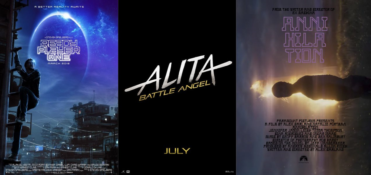 Trailer-Watchin' Wednesday - Ready Player One, Alita: Battle Angel, Annihilation
