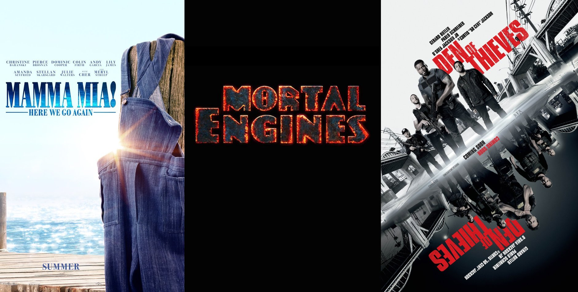 Trailer-Watchin' Wednesday: Mortal Engines, Mamma Mia 2, Den of Thieves