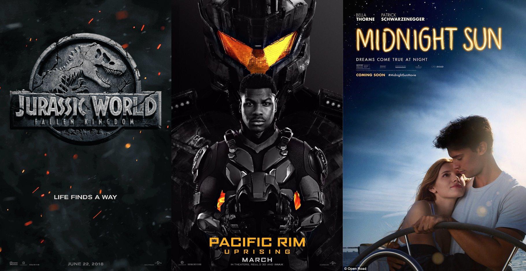 Trailer-Watchin' Wednesday: Pacific Rim: Uprising, Midnight Sun, Jurassic World: Fallen Kingdom