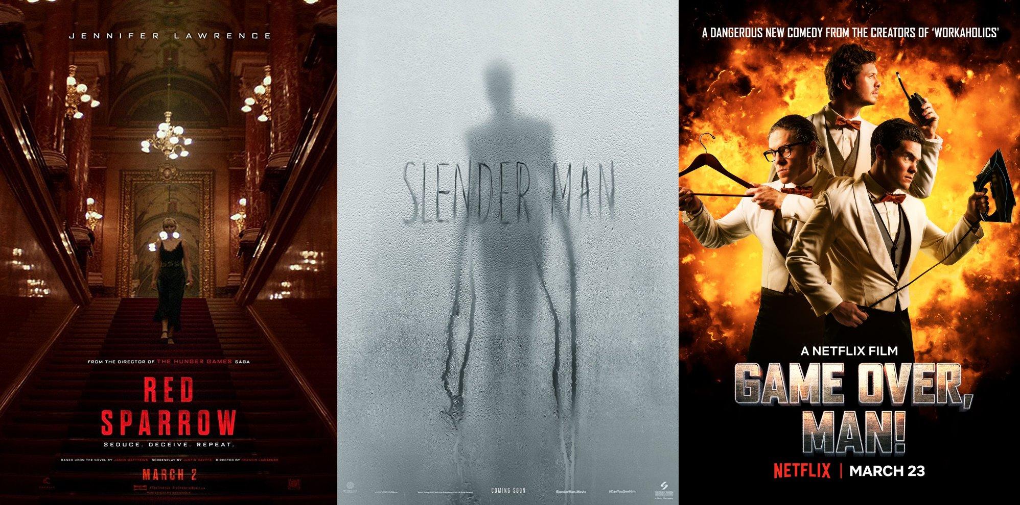Trailer-Watchin' Wednesday: Red Sparrow, Game Over Man, Slender Man