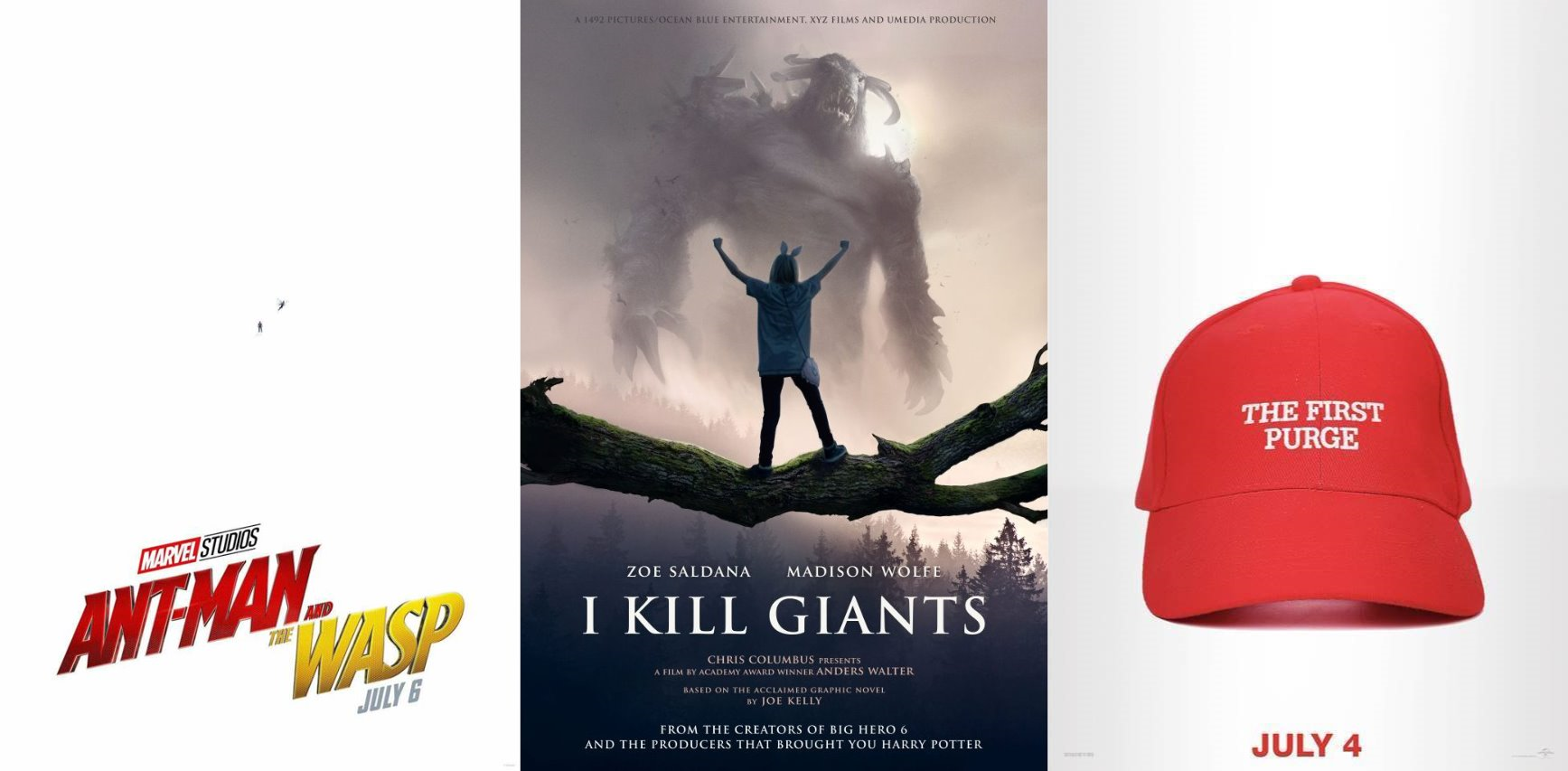 Trailer-Watchin' Wednesday: Ant-Man and the Wasp, I Kill Giants, The First Purge