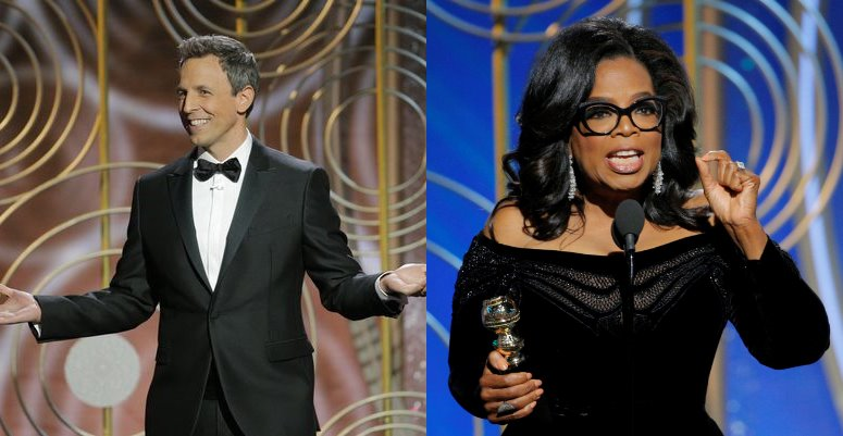 Golden Globes - Seth's Show Open and Oprah's Show Stopper