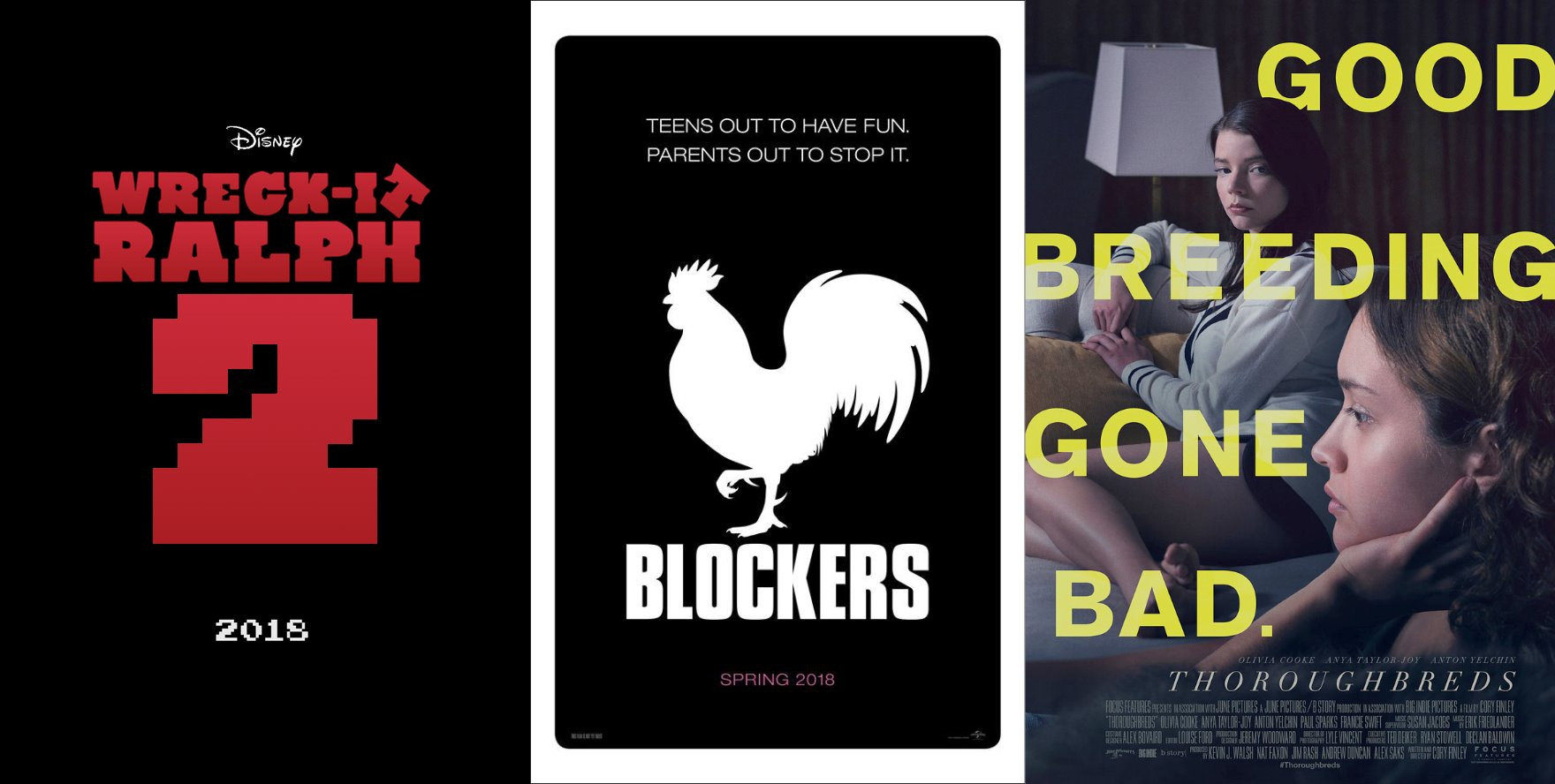Trailer-Watchin' Wednesday - Ralph Breaks the Internet, Blockers, Thoroughbreds