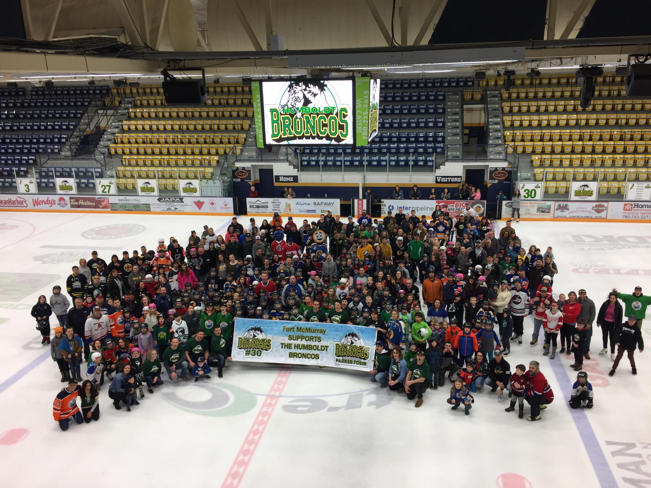 Fort McMurray Stands With The Humboldt Broncos, $120K Raised