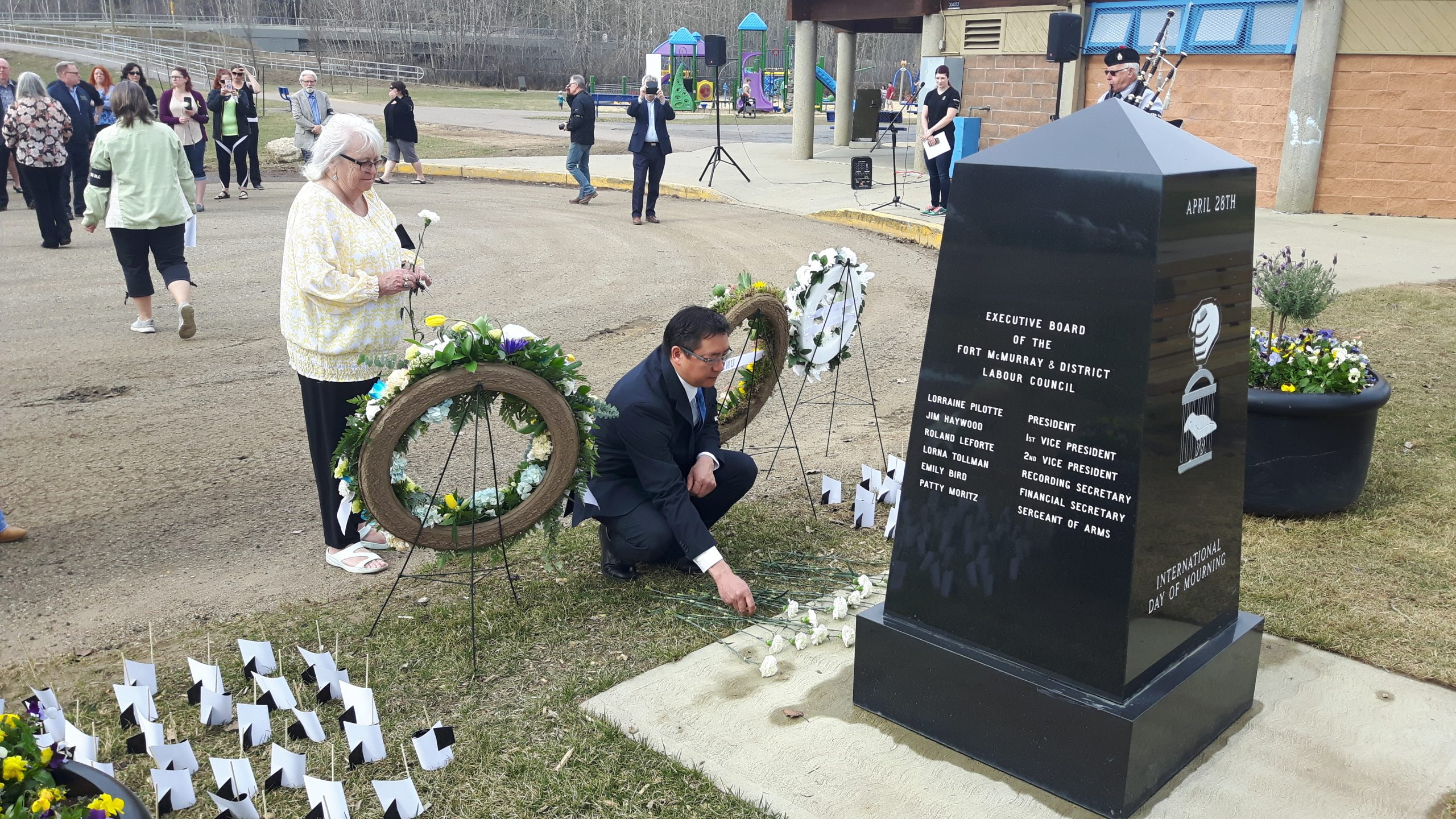 Community Members and Leaders Gather For International Day Of Mourning