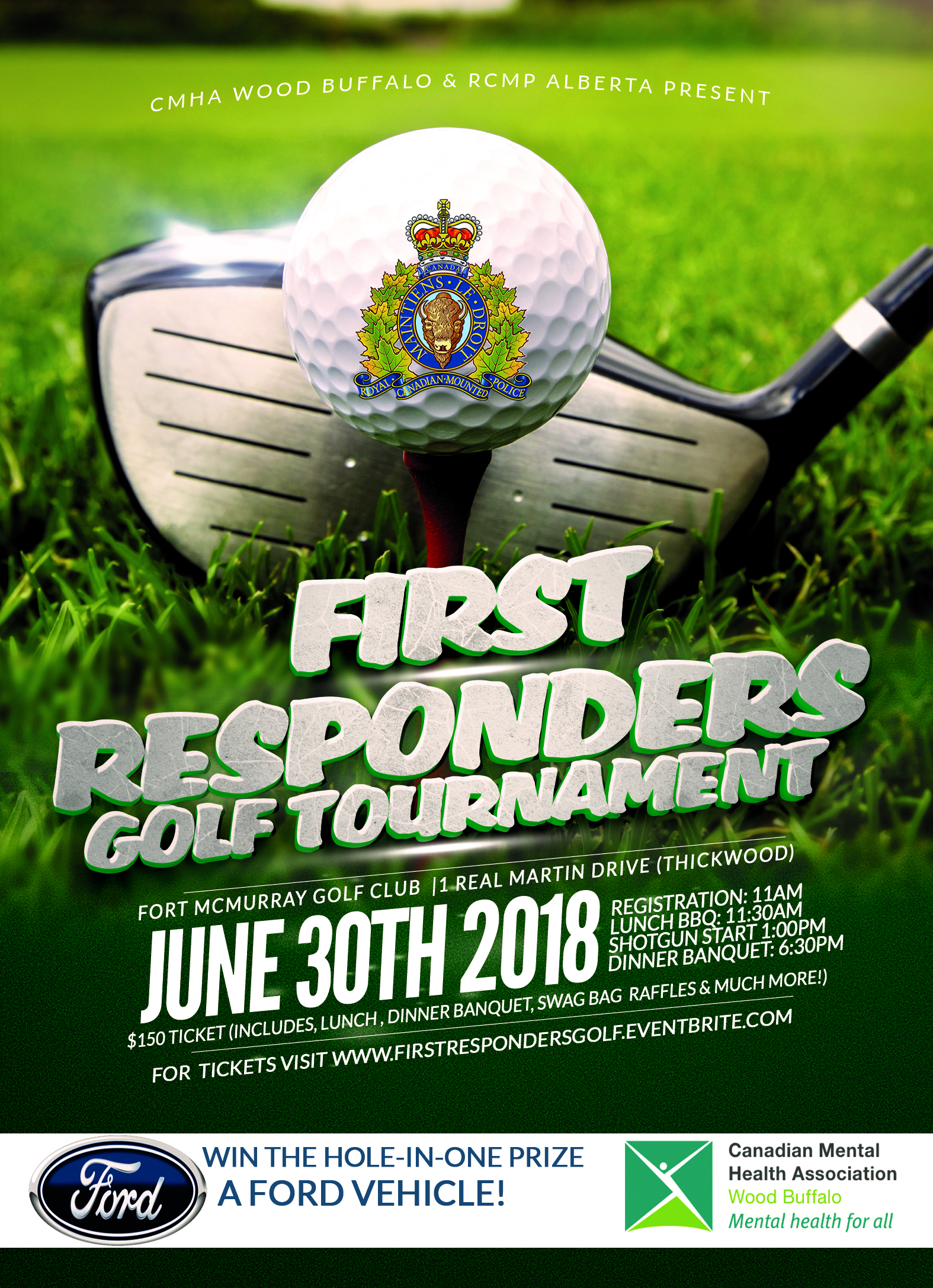 CMHA-Wood Buffalo Hosting Golf Tournament For First Responders