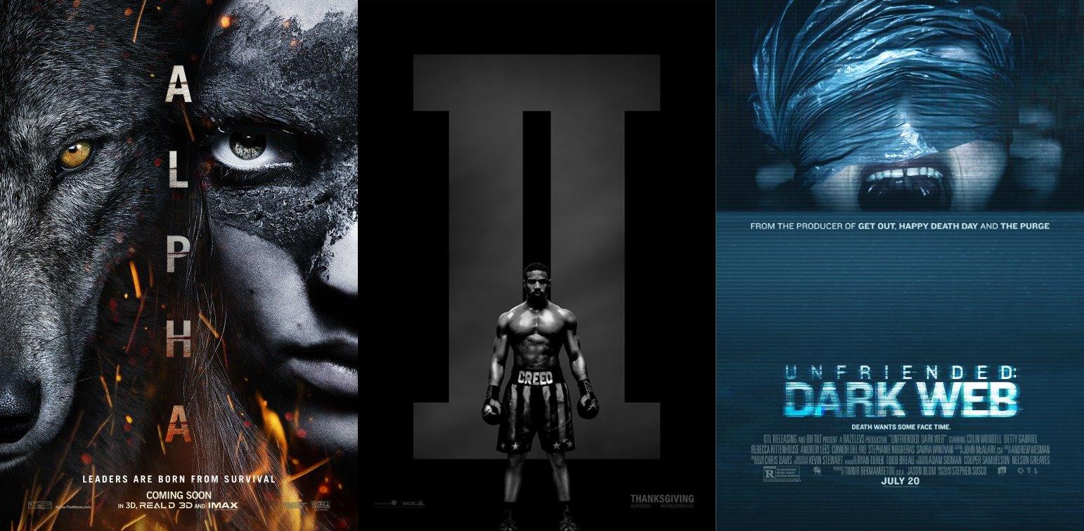 Trailer-Watchin' Wednesday - Alpha, Unfriended: Dark Web, Creed II